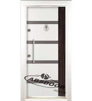 Çelik Kapı, Abs Door 1454 Çift Renk Laminoks Serisi Çelik Kapı