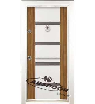 Çelik Kapı, Abs Door 1455 Çift Renk Laminoks Serisi Çelik Kapı
