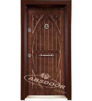 Çelik Kapı, Abs Door 1606 Kabartma Panel Daire Çelik Kapı