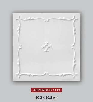 Desenli Tavan Kaplama, Aspendos 50x50 Daire Tavan Kaplama