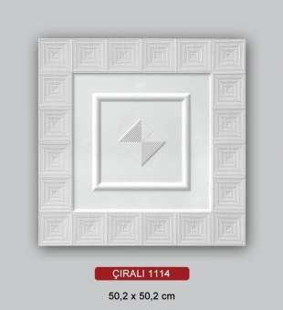 Desenli Tavan Kaplama, Çıralı 50x50 Tavan Kaplama Plakası