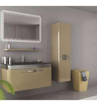 Lüx Banyo Dolabı, Hitit Dekor Aynalı Lüks Banyo Dolabı