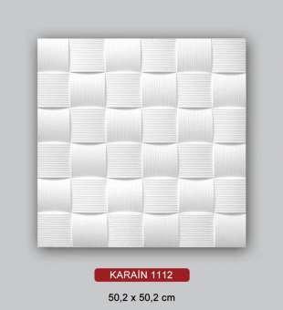 Desenli Tavan Kaplama, Karain Hasır Desenli 50x50 Tavan Köpüğü