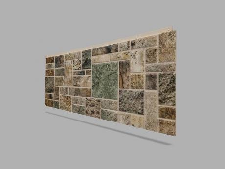 Kare Strafor Taş Duvar Kaplama Paneli